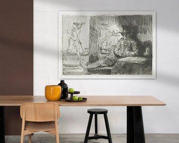 Das Marionettenspiel, Rembrandt van Rijn