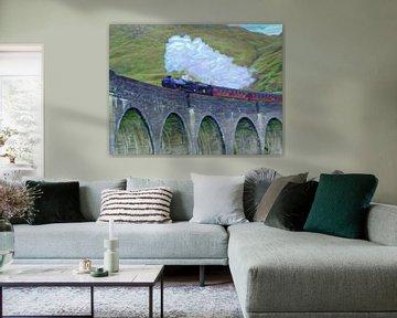 Schilderij van Schotland: Zweinstein Express van Harry Potter