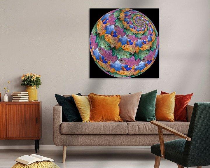 Sfeerimpressie: Fish Sphere Surface van Tis Veugen