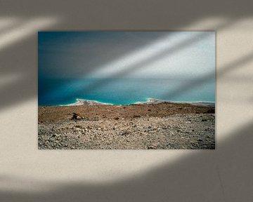 Dode Zee, nabij Jerusalem, Israël van Stefan van Horssen