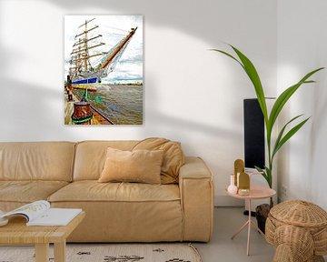 Segelschiff Mir von Leopold Brix