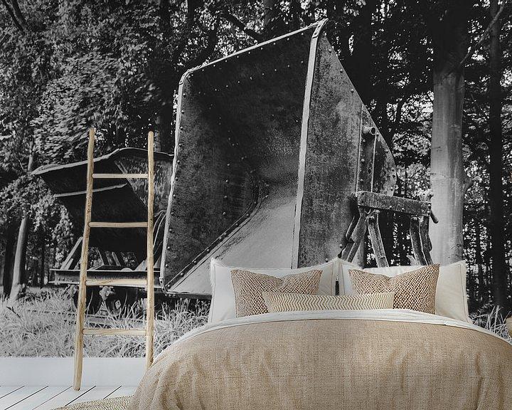 Beispiel fototapete: Alter Torftransportwagen von Anjo ten Kate