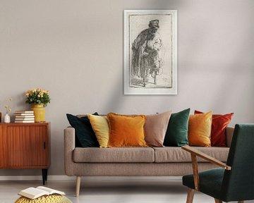 Bettler mit Holzbeinen, Rembrandt van Rijn