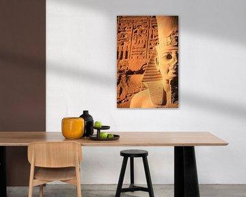 Farao beeld in Luxor van Krijn van der Giessen