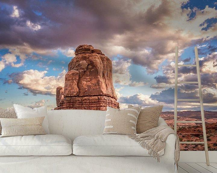 Sfeerimpressie behang: Utah van Bart Hendrix