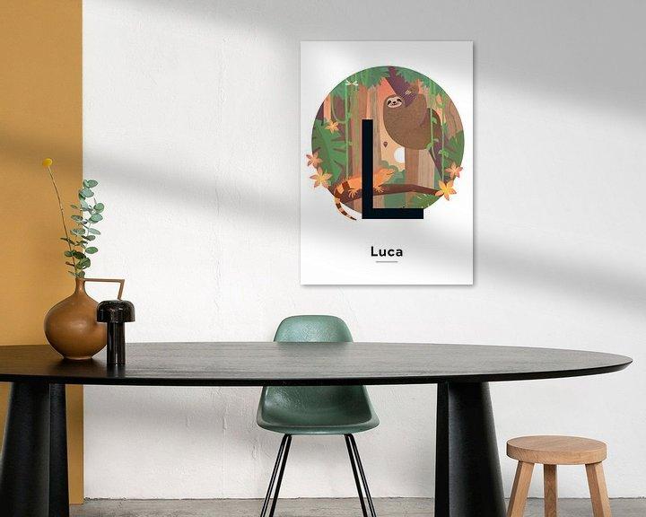 Impression: Affiche nominative Luca sur Hannahland .
