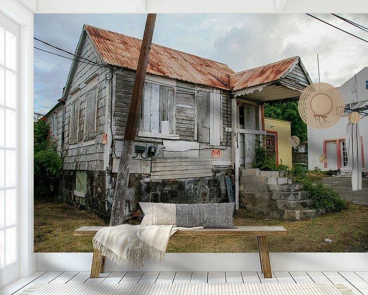 Beispiel fototapete: Verfallenes Haus auf St. Eustatius von Joost Adriaanse