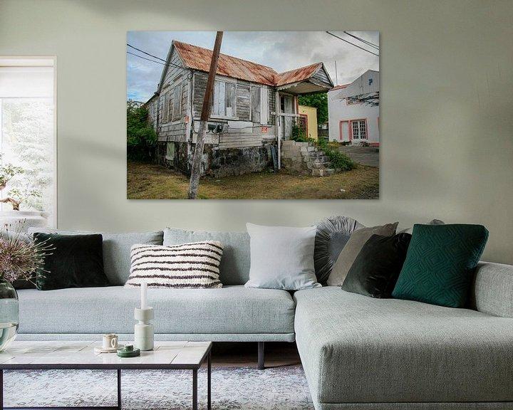 Beispiel: Verfallenes Haus auf St. Eustatius von Joost Adriaanse