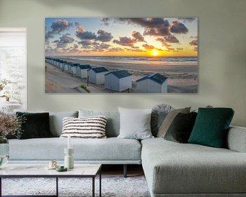 Zonsondergang op het strand van de Koog op Texel