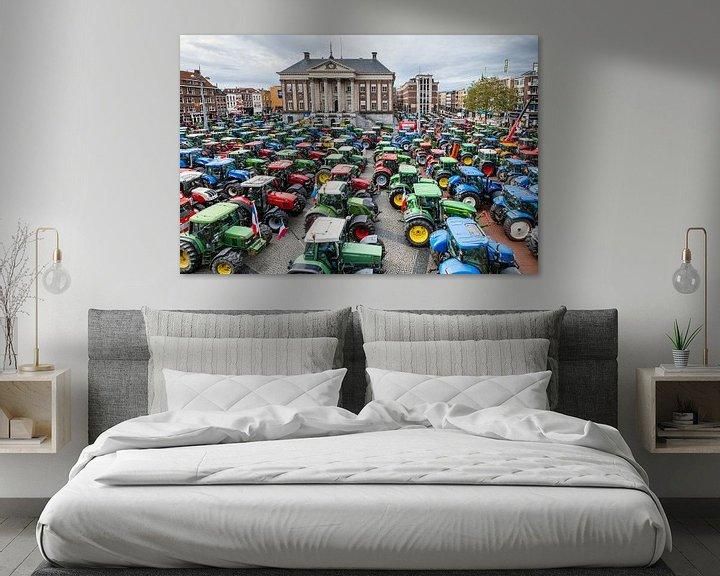 Beispiel: Traktoren auf dem Großen Markt in Groningen von Evert Jan Luchies