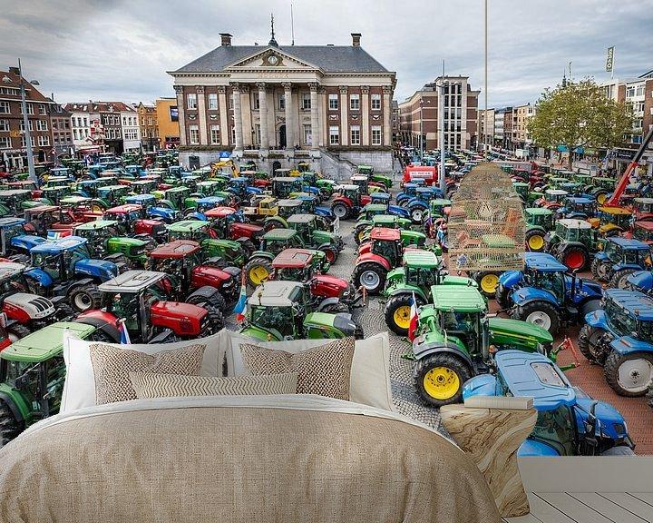 Beispiel fototapete: Traktoren auf dem Großen Markt in Groningen von Evert Jan Luchies
