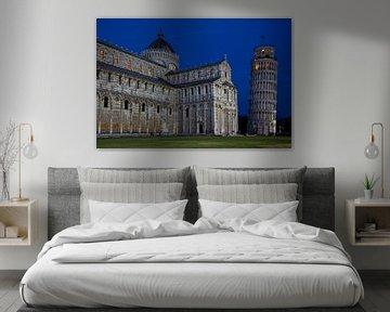 Pisa bij nacht van Sjors Gijsbers