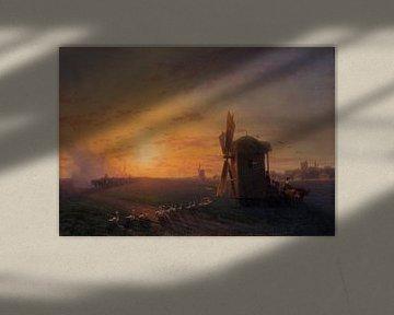 Steppe bei Sonnenuntergang, Ivan Ajvazovski