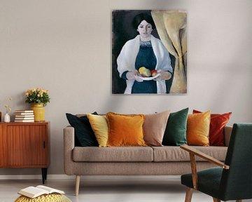 Portrait mit Äpfeln, August Macke