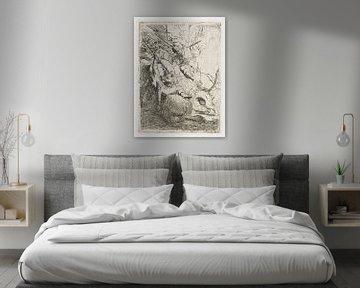Die kleine Löwenjagd: mit einem Löwen, Rembrandt van Rijn