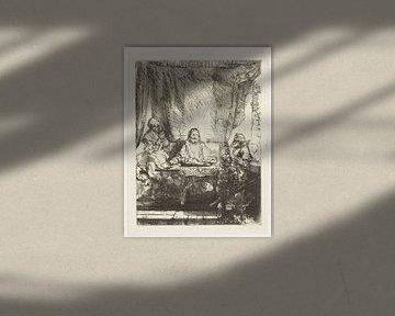 Christus in Emmaus: Gesamtbild, Rembrandt van Rijn