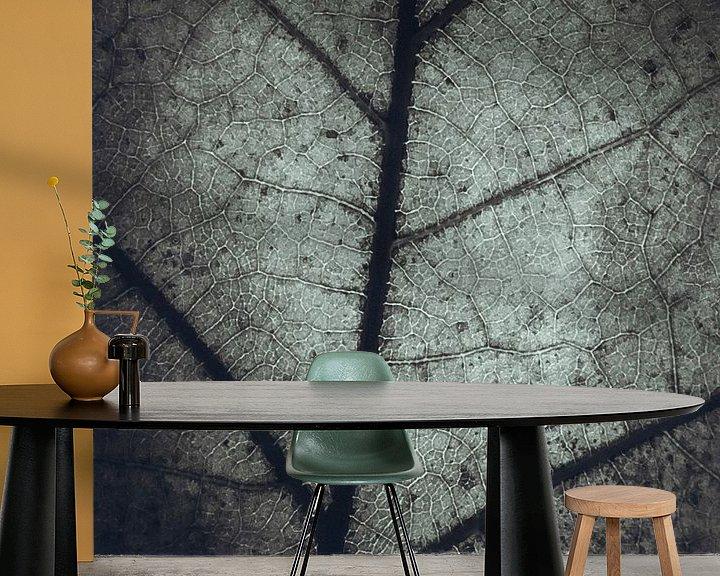 Sfeerimpressie behang: Plattegrond van een eikenblad van Fotografie Jeronimo