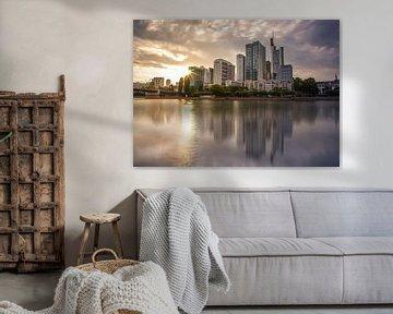 Skyline van Frankfurt van Sergej Nickel