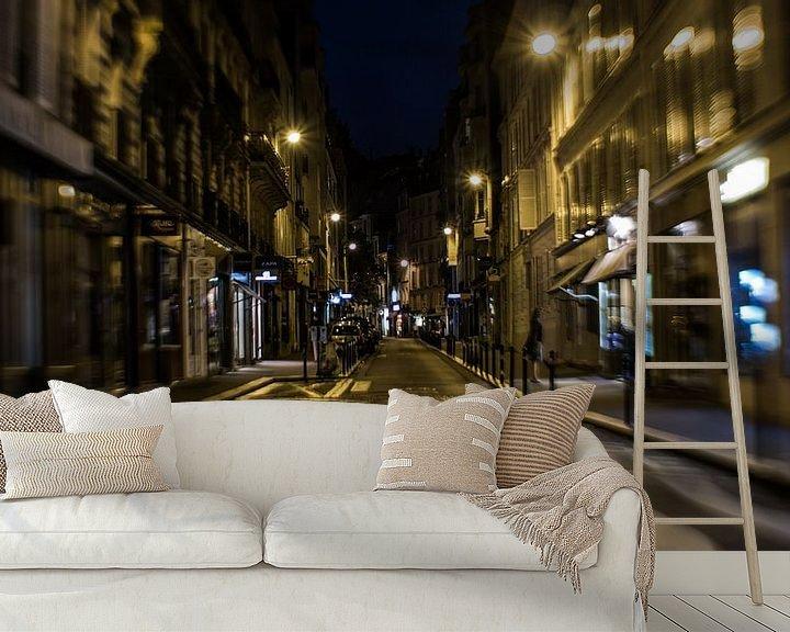 Beispiel fototapete: Eine Straße in Paris von Capturedlight.nl Annet & Michel