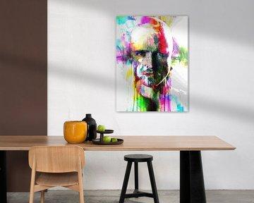 Breaking Bad Jesse Pinkman / Aaron Paul Abstraktes Porträt von Art By Dominic