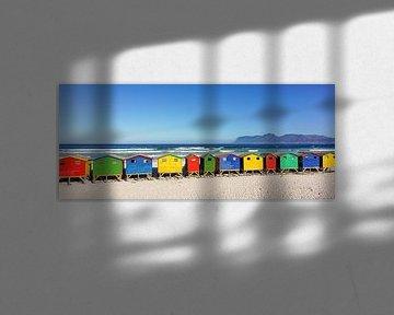 Bunte Strandhäuser Südafrika von John Stijnman