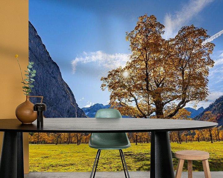 Sfeerimpressie behang: ahorngrond van Manfred Schmierl