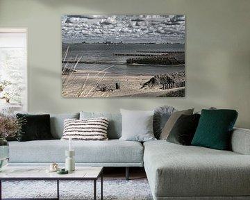 La mer à Breskens en Zélande