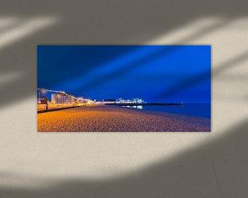 South Parade Pier in Portsmouth bei Nacht von Werner Dieterich