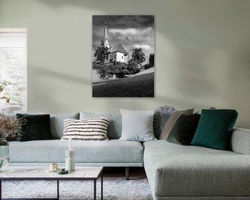 Österreichische Kirche in Schwarz-Weiß von Patrick Herzberg