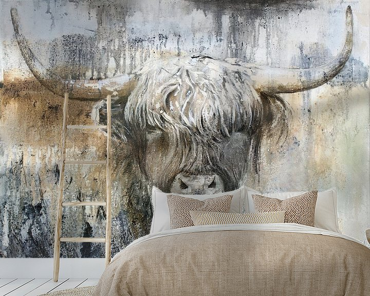 Beispiel fototapete: Hochlandkuh II von Atelier Paint-Ing