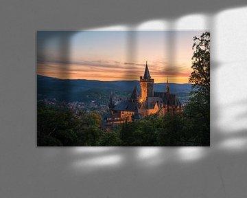 Schloss Wernigerode im Abendlicht von Robin Oelschlegel