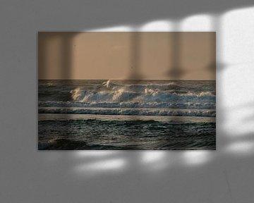 ruige golven op de Noordzee van Arie Jan van Termeij