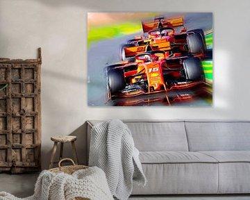 Bella Macchina - Leclerc & Vettel von Jean-Louis Glineur alias DeVerviers