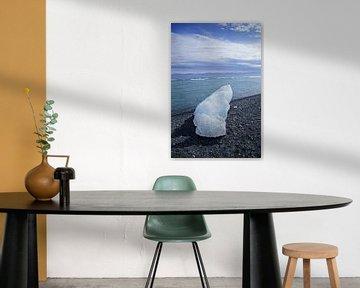 IJsland, IJsblok op Diamond Beach van Discover Dutch Nature