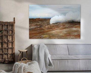 IJsland, Gunnuhver geiser van Discover Dutch Nature
