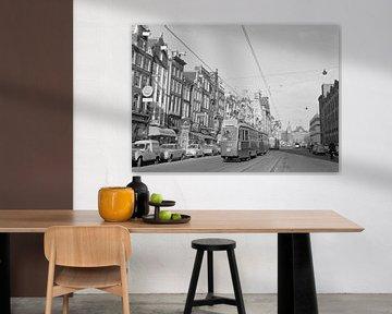 Amsterdam Straßenbahn Damrak 1960er Jahre von Timeview Vintage Images