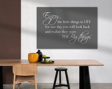 Enjoy the little things - Donker grijs van Sandra Hazes