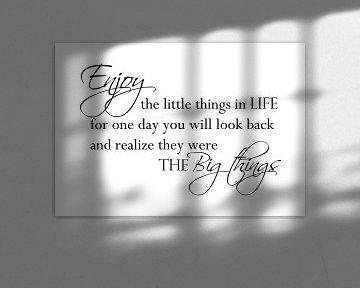 Enjoy the little things - Wit van Sandra Hazes
