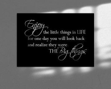 Enjoy the little things - Zwart van Sandra Hazes