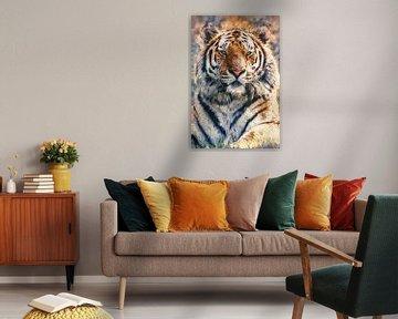 Eye of the tiger (kunst) van Art by Jeronimo