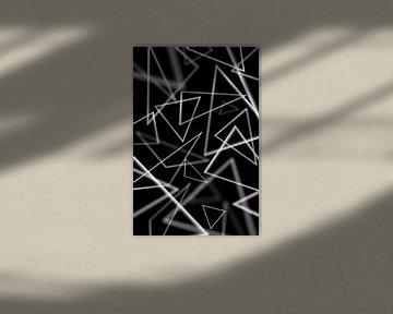 Witte driehoeken van Jörg Hausmann