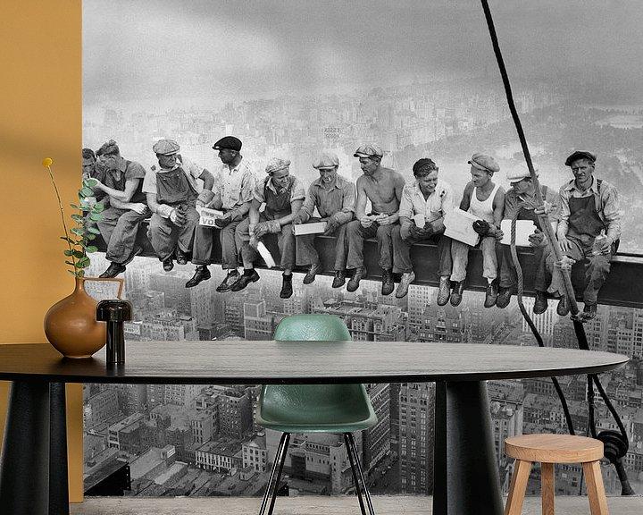 Beispiel fototapete: Mittagessen auf einem Wolkenkratzer von Vintage Afbeeldingen