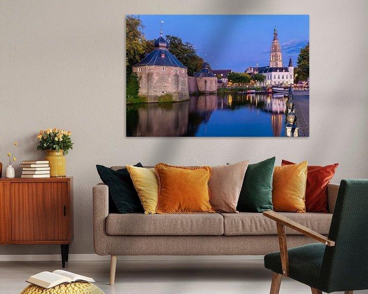 Sfeerimpressie: Avondlicht over Breda Spanjaardsgat van JPWFoto
