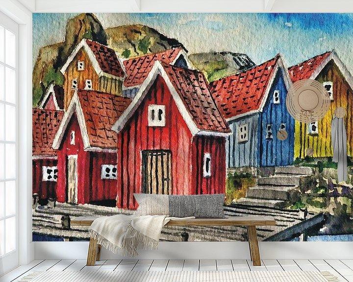 Beispiel fototapete: Fischerhäuser Fjällbacka von Thomas Suske