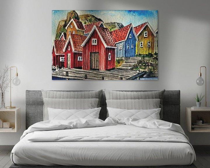 Beispiel: Fischerhäuser Fjällbacka von Thomas Suske