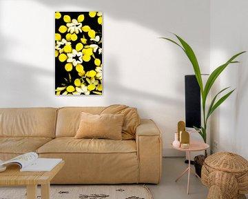 Gelbe Blumen von Stijn Cleynhens