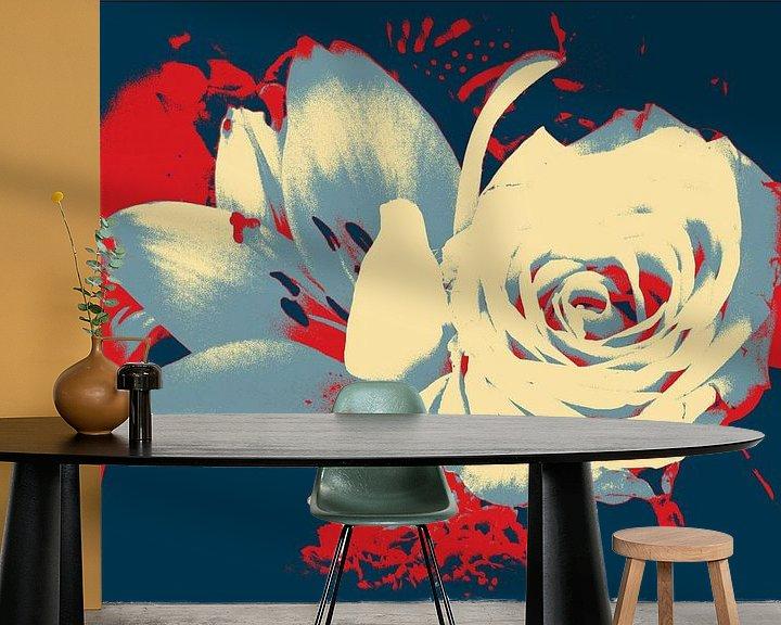 Beispiel fototapete: Rose & Lelie von Nicky`s Prints