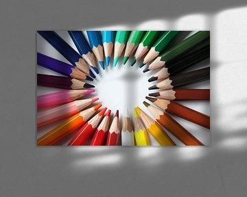 De kleurencirkel is rond van Tesstbeeld Fotografie