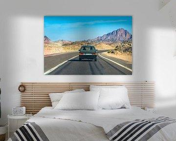 Road trip through the desert of Egypt von Michiel Ton