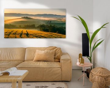 Zonsopkomst Poggio Covili, Toscane, Italië van Henk Meijer Photography